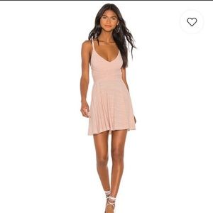 NWT Lovers + Friends Ken Mini Dress in Shell Pink